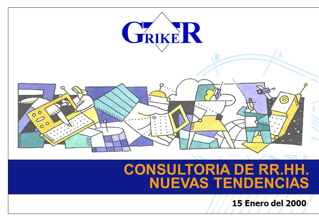 CONSULTORIA DE RR.HH. NUEVAS TENDENCIAS 15 Enero del 2000
