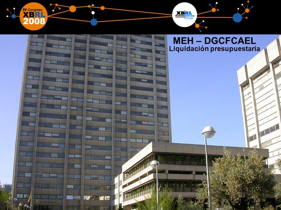 10 MEH – DGCFCAEL Liquidación presupuestaria