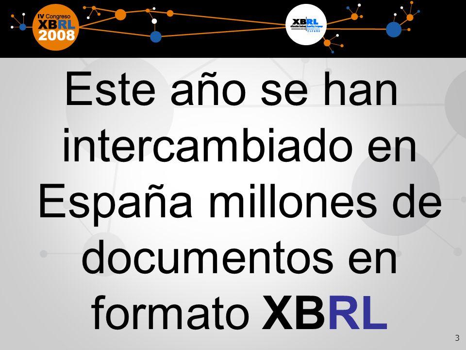 3 Este año se han intercambiado en España millones de documentos en formato XBRL