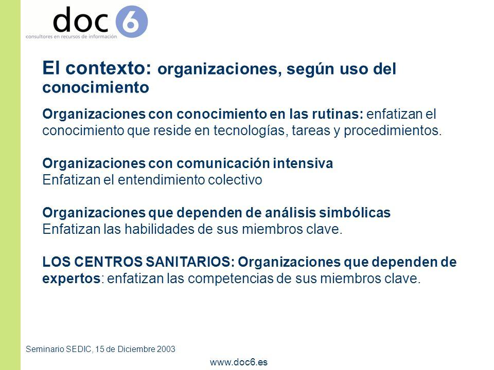 Seminario SEDIC, 15 de Diciembre 2003 www.doc6.es