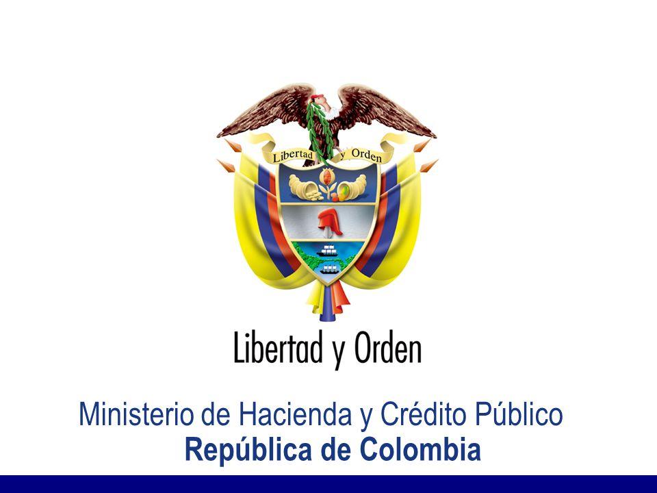 MINISTERIO DE HACIENDA Y CRÉDITO PÚBLICO Presentación MHCP_ Ministerio de Hacienda y Crédito Público re República de Colombia