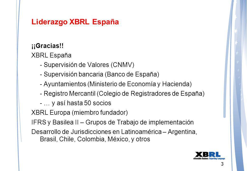 3 Liderazgo XBRL España ¡¡Gracias!.