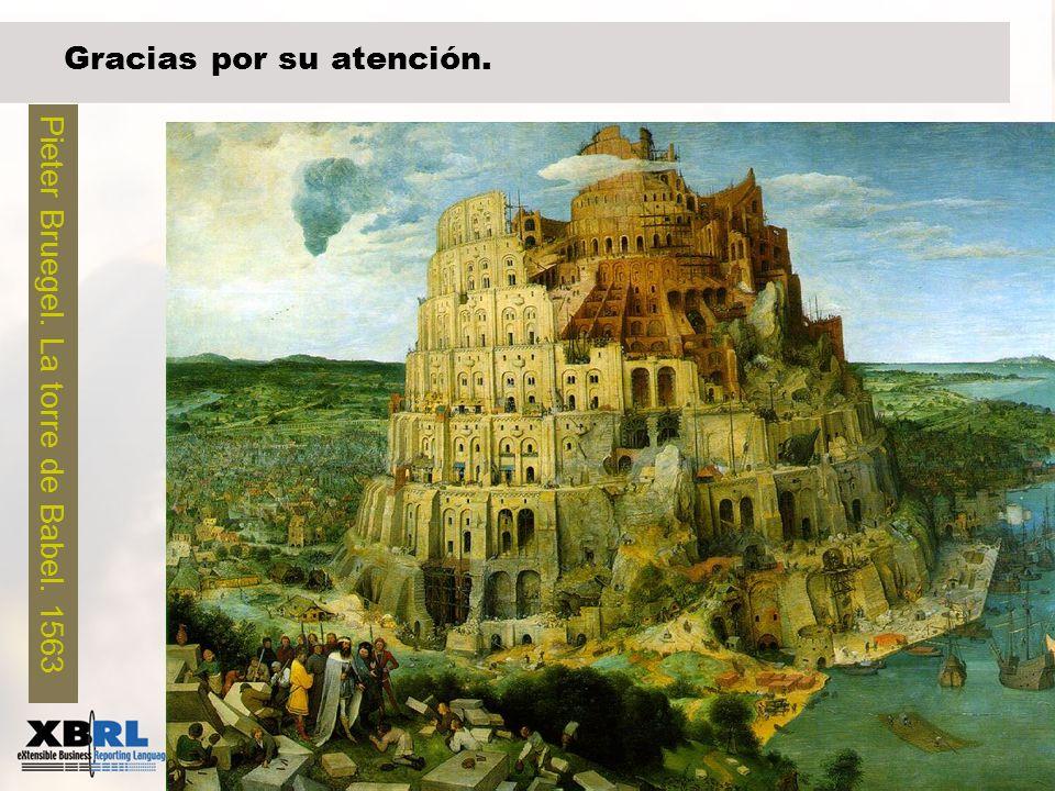 44 Gracias por su atención. Pieter Bruegel. La torre de Babel. 1563