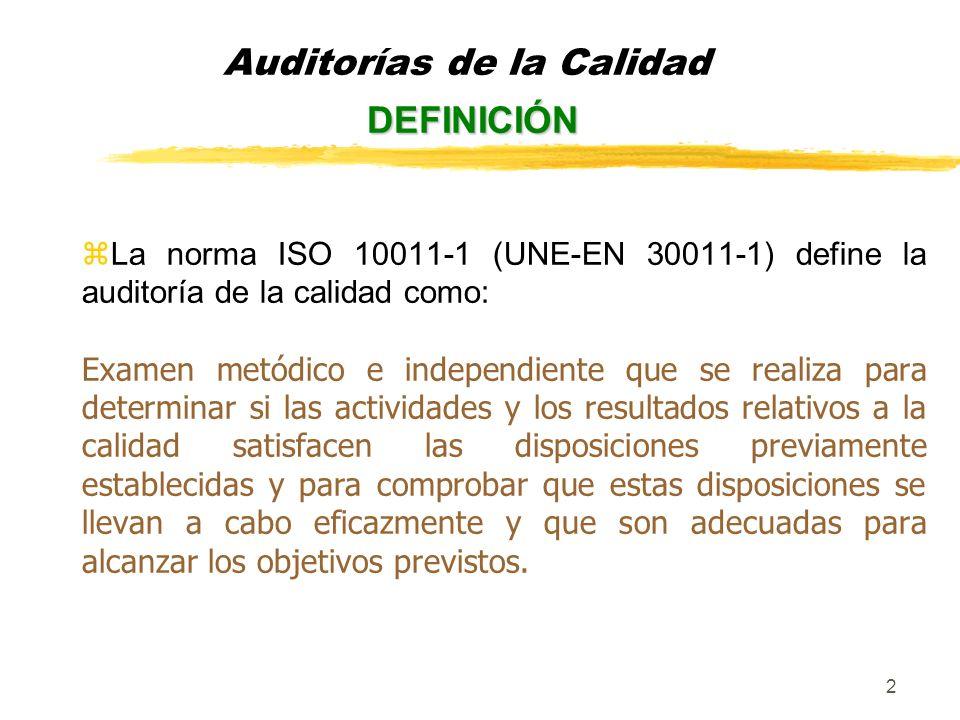 3 Las auditorías de la calidad atendiendo a que se aplican pueden ser: zauditorías del sistema de la calidad zauditorías de la calidad del proceso zauditorías de la calidad del producto zauditorías de la calidad del servicio TIPOS DE AUDITORÍAS Auditorías de la Calidad TIPOS DE AUDITORÍAS