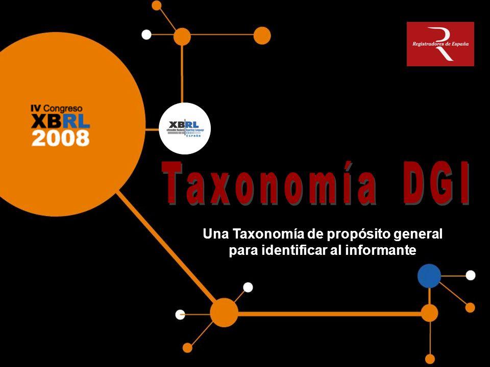 Taxonomía soporte que proporciona elementos para identificar la unidad informante, y las circunstancias que definen el contexto donde se ha desarrollado el documento XBRL.