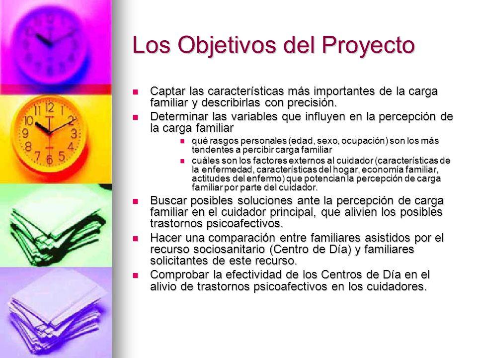 Los Objetivos del Proyecto Captar las características más importantes de la carga familiar y describirlas con precisión. Captar las características má
