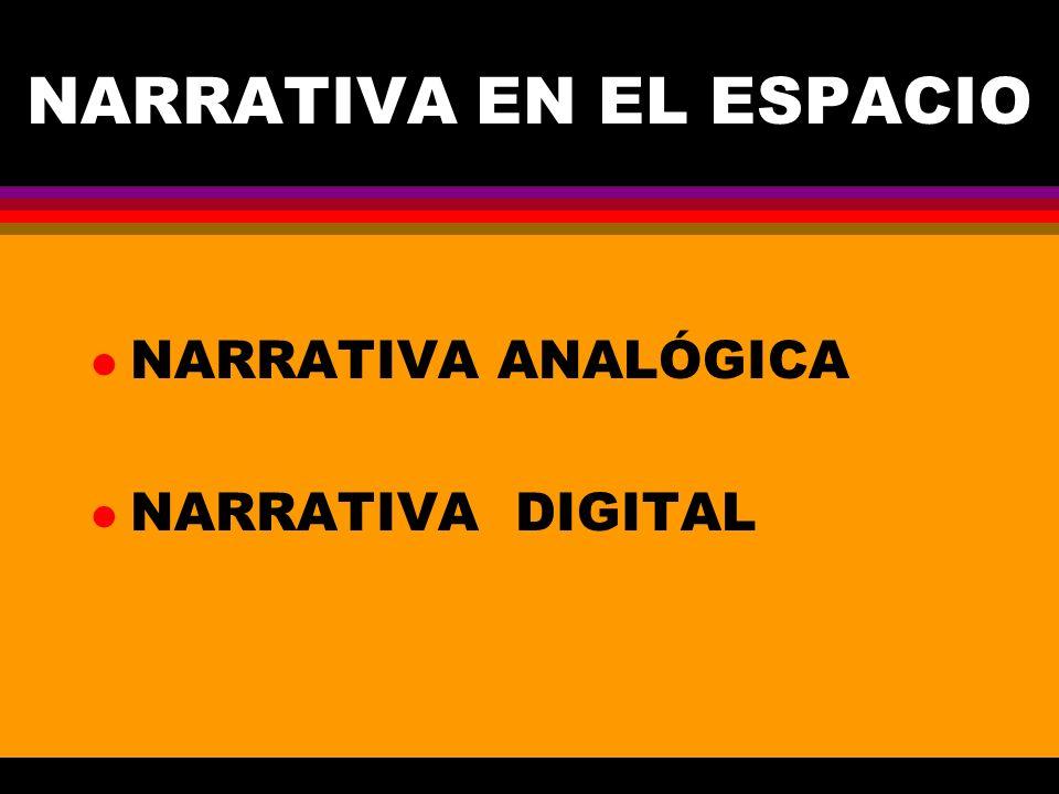 NARRATIVA EN EL ESPACIO l NARRATIVA ANALÓGICA l NARRATIVA DIGITAL