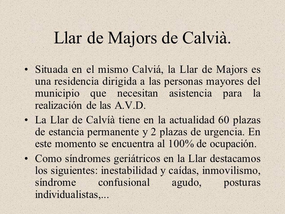Llar de Majors de Calvià. Situada en el mismo Calviá, la Llar de Majors es una residencia dirigida a las personas mayores del municipio que necesitan