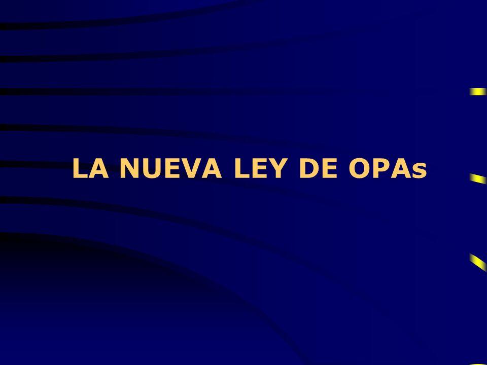 LA NUEVA LEY DE OPAs