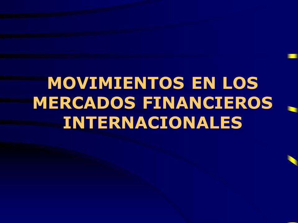 MOVIMIENTOS EN LOS MERCADOS FINANCIEROS INTERNACIONALES