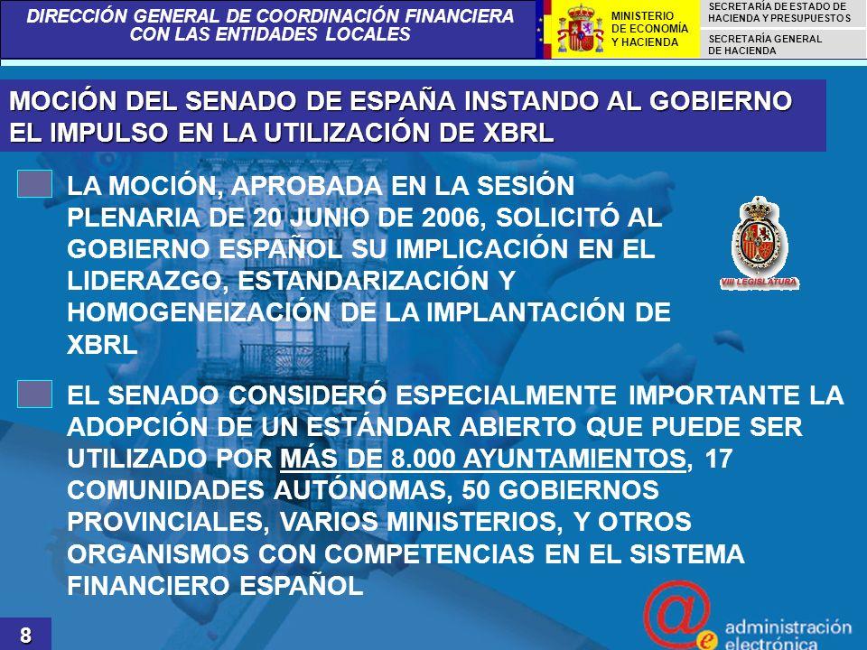 DIRECCIÓN GENERAL DE COORDINACIÓN FINANCIERA CON LAS ENTIDADES LOCALES SECRETARÍA DE ESTADO DE HACIENDA Y PRESUPUESTOS SECRETARÍA GENERAL DE HACIENDA MINISTERIO DE ECONOMÍA Y HACIENDA TAXONOMÍA LENLOC 19 LENLOC.