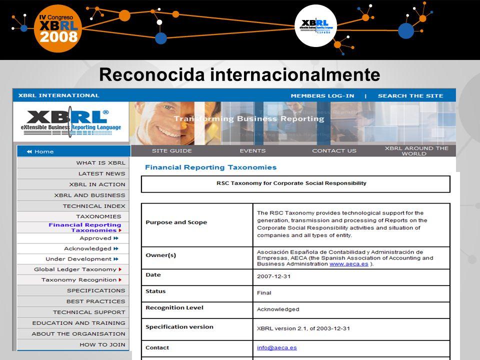Reconocida internacionalmente