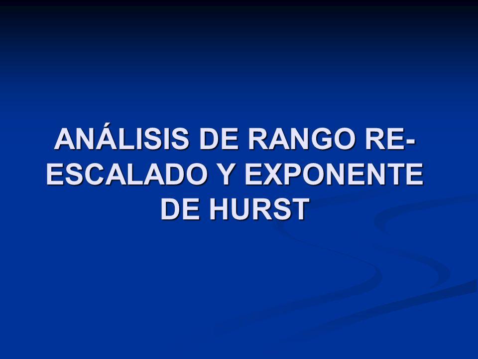 ANÁLISIS DE RANGO RE- ESCALADO Y EXPONENTE DE HURST
