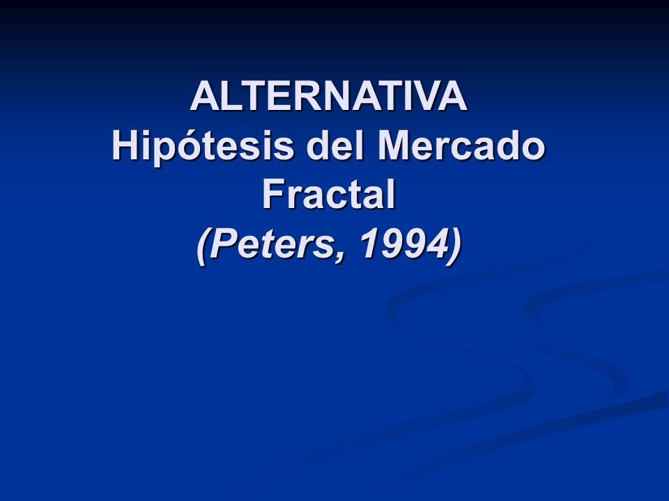 ALTERNATIVA Hipótesis del Mercado Fractal (Peters, 1994)