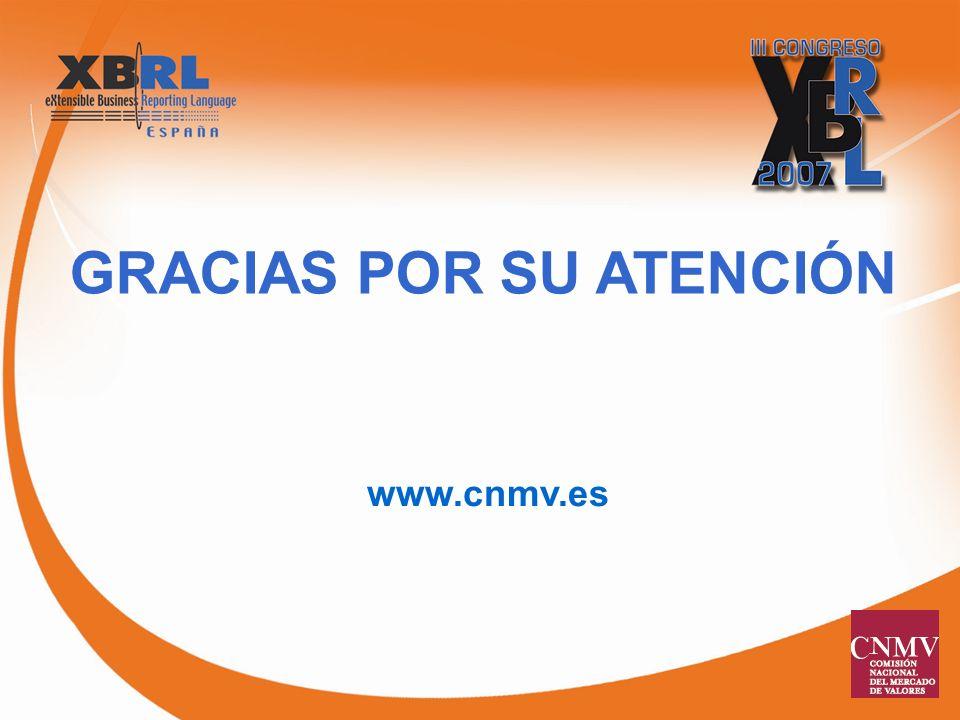 GRACIAS POR SU ATENCIÓN www.cnmv.es