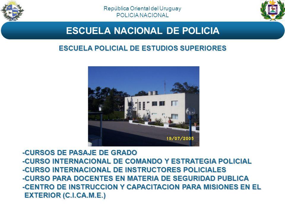 -CURSOS DE PASAJE DE GRADO -CURSO INTERNACIONAL DE COMANDO Y ESTRATEGIA POLICIAL -CURSO INTERNACIONAL DE INSTRUCTORES POLICIALES -CURSO PARA DOCENTES