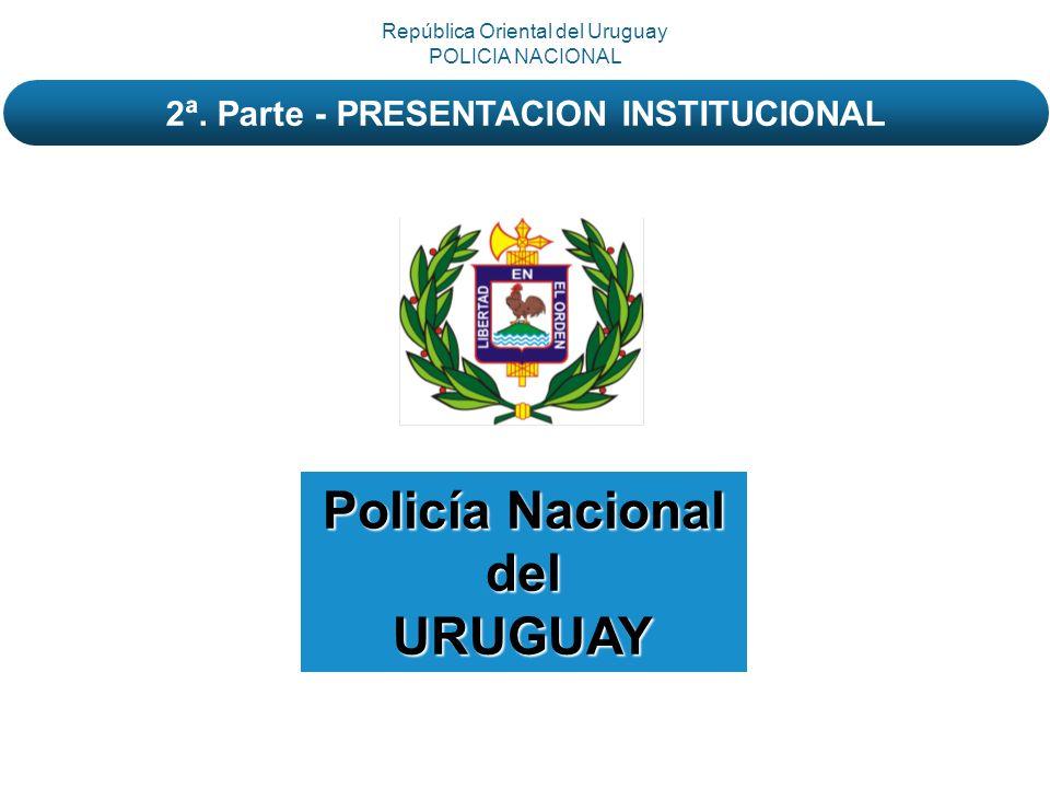 Policía Nacional delURUGUAY República Oriental del Uruguay POLICIA NACIONAL 2ª. Parte - PRESENTACION INSTITUCIONAL