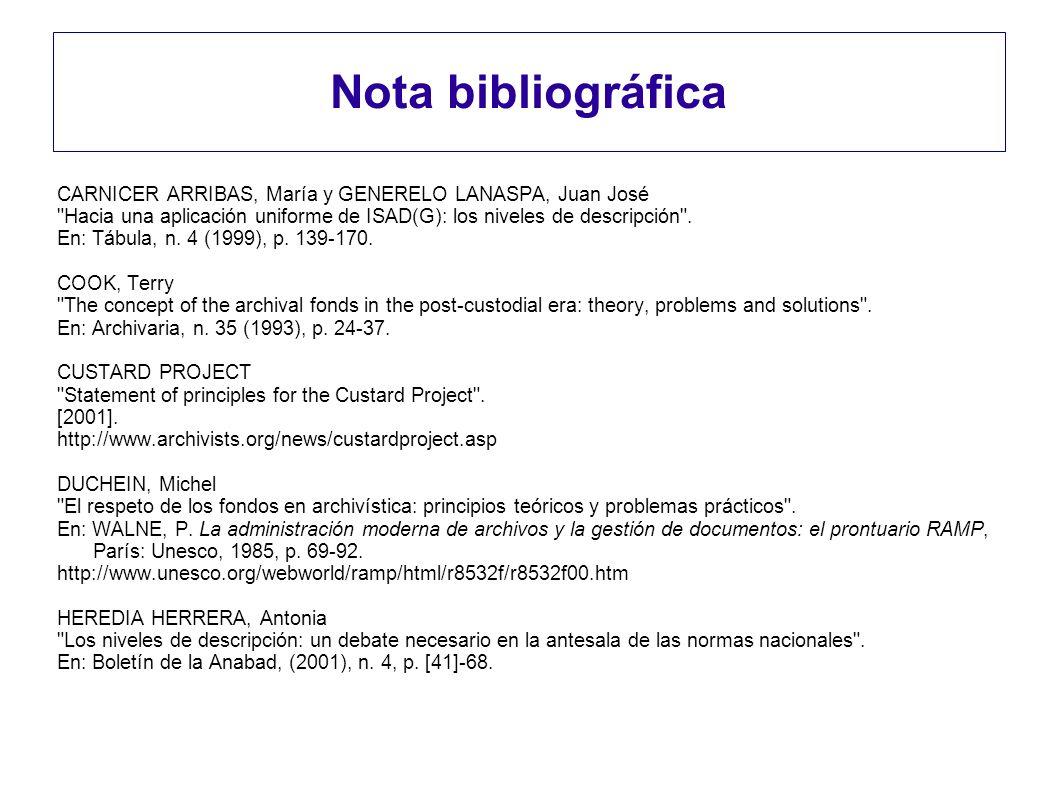 Nota bibliográfica CARNICER ARRIBAS, María y GENERELO LANASPA, Juan José