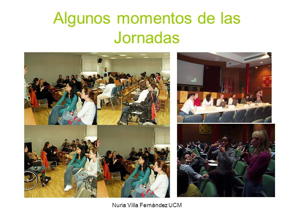 Nuria Villa Fernández UCM Algunos momentos de las Jornadas