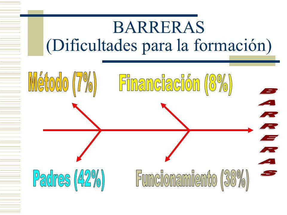 BARRERAS (Dificultades para la formación)