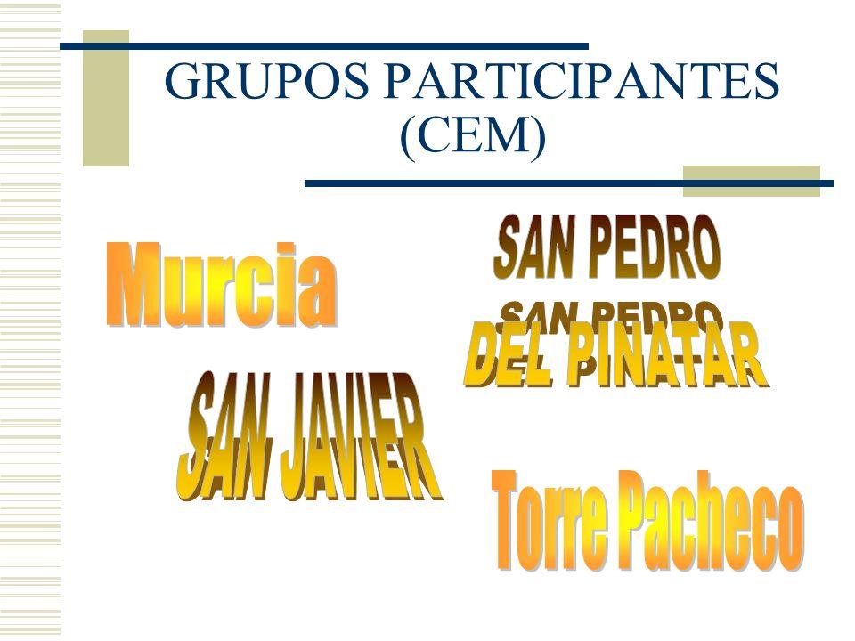 GRUPOS PARTICIPANTES (CEM)