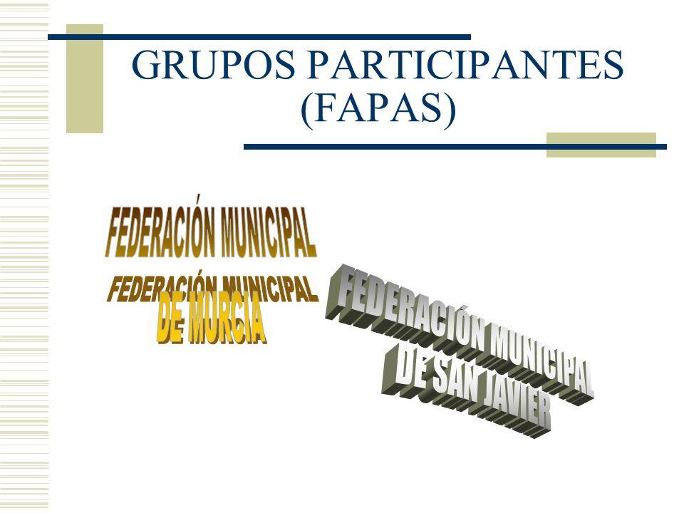 GRUPOS PARTICIPANTES (FAPAS)