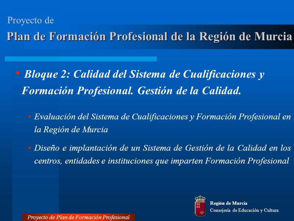 Bloque 2: Calidad del Sistema de Cualificaciones y Formación Profesional.