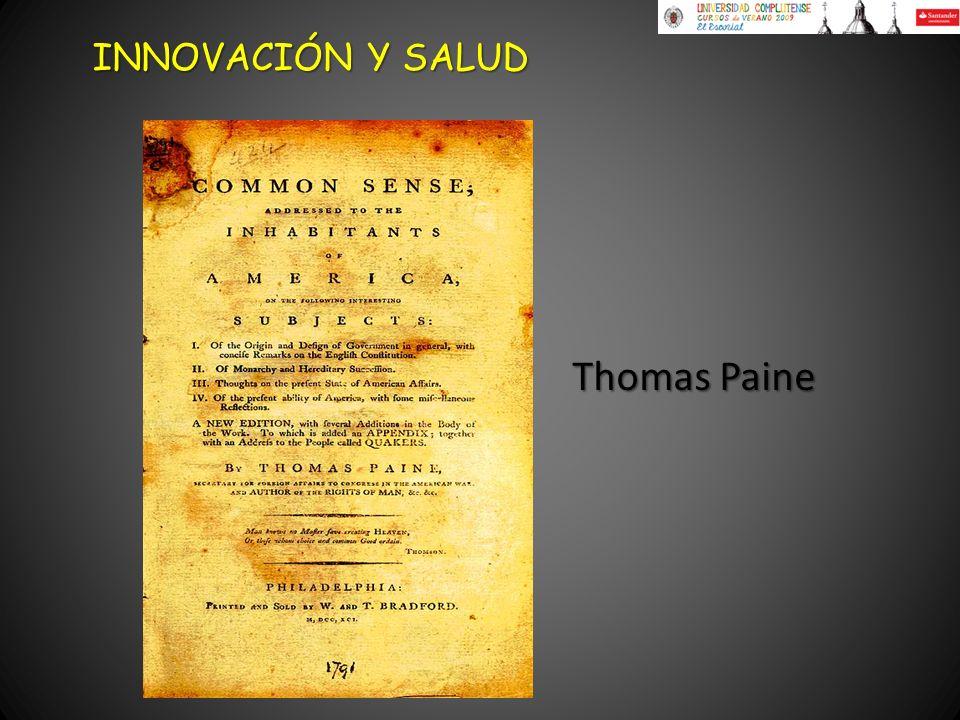 Thomas Paine INNOVACIÓN Y SALUD
