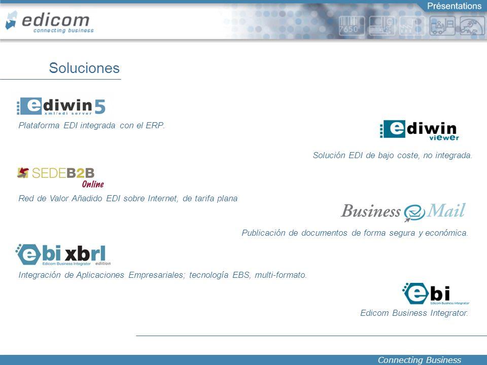 Connecting Business Soluciones Plataforma EDI integrada con el ERP. Publicación de documentos de forma segura y económica. Red de Valor Añadido EDI so