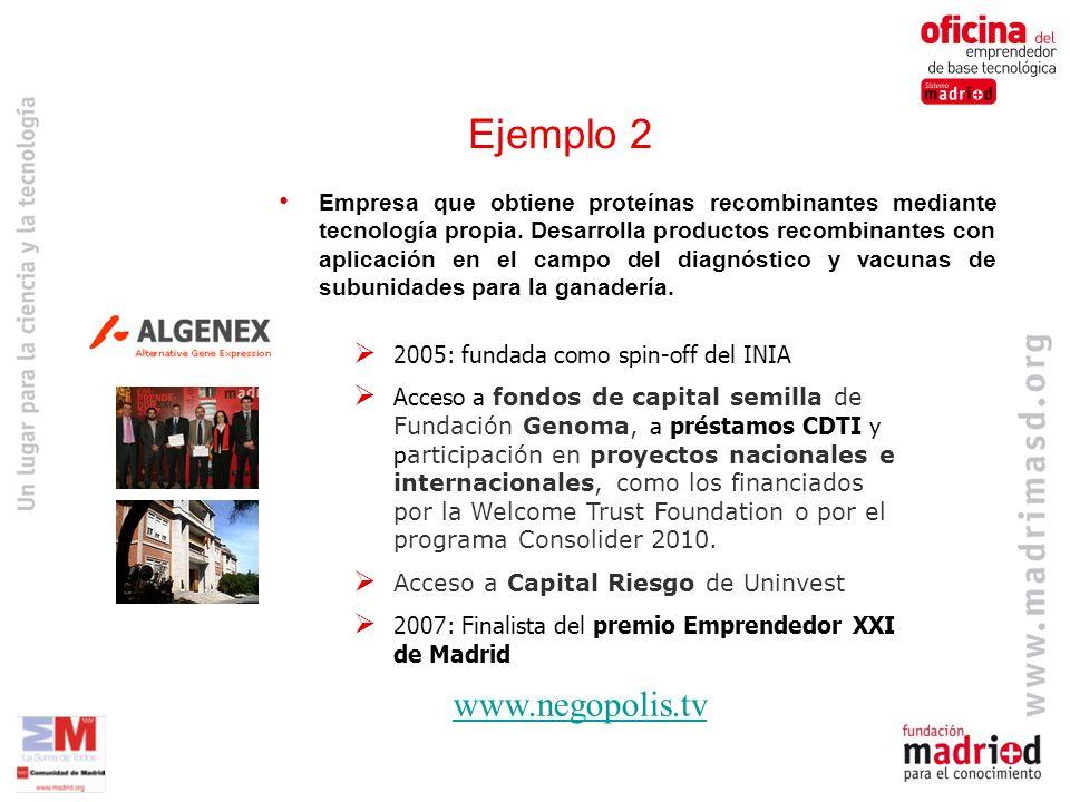 www.negopolis.tv Empresa que obtiene proteínas recombinantes mediante tecnología propia.