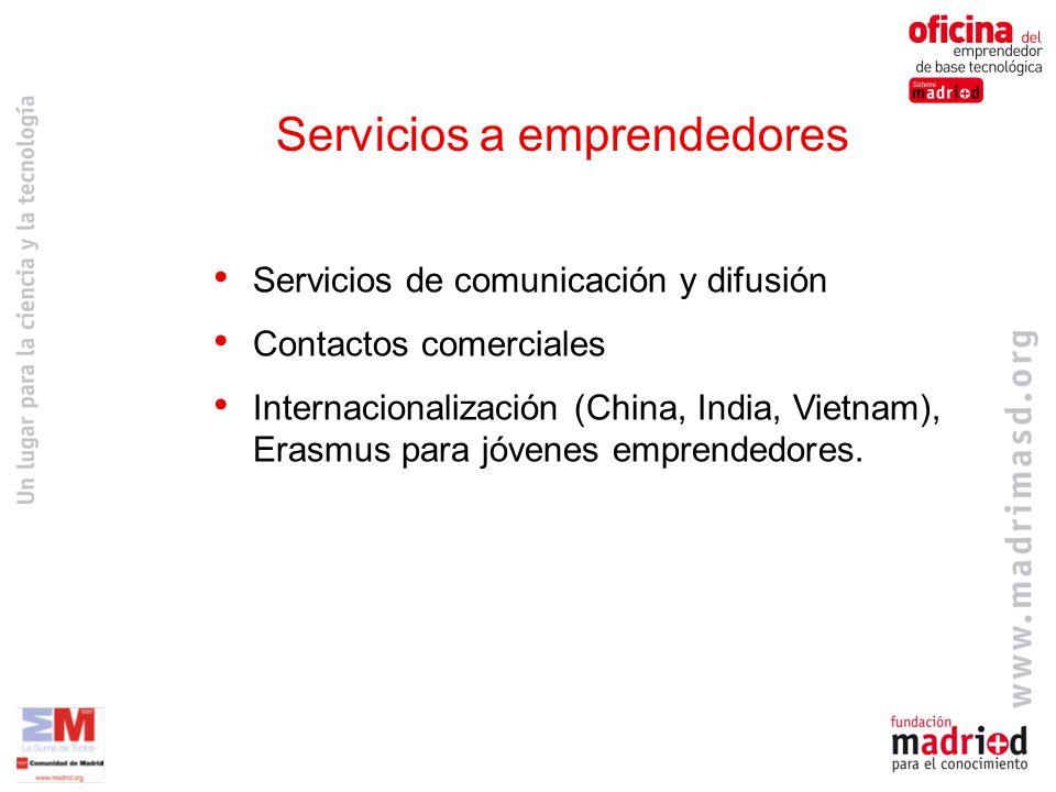 Servicios de comunicación y difusión Contactos comerciales Internacionalización (China, India, Vietnam), Erasmus para jóvenes emprendedores.