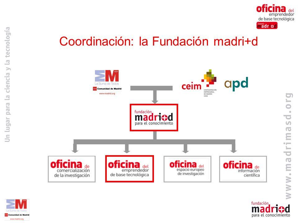 Red de Business Angels BAN madri+d Iniciativa público-privada (CM- CEIM-APD) Sin ánimo de lucro (servicios gratuitos) Regional Sólo proyectos de base tecnológica BAN madri+d