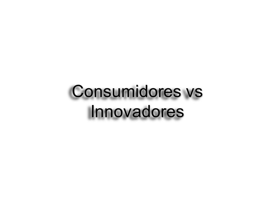 Consumidores vs Innovadores