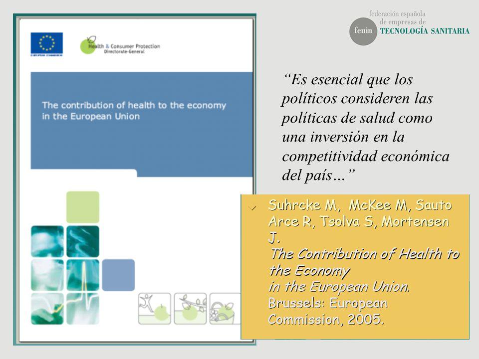 Es esencial que los políticos consideren las políticas de salud como una inversión en la competitividad económica del país…