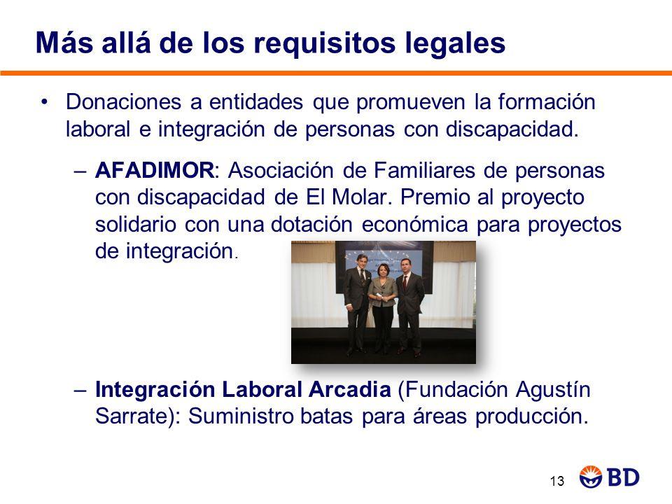 Donaciones a entidades que promueven la formación laboral e integración de personas con discapacidad. –AFADIMOR: Asociación de Familiares de personas