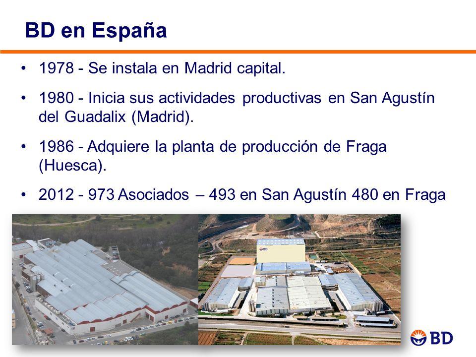 BD en España 6 1978 - Se instala en Madrid capital. 1980 - Inicia sus actividades productivas en San Agustín del Guadalix (Madrid). 1986 - Adquiere la