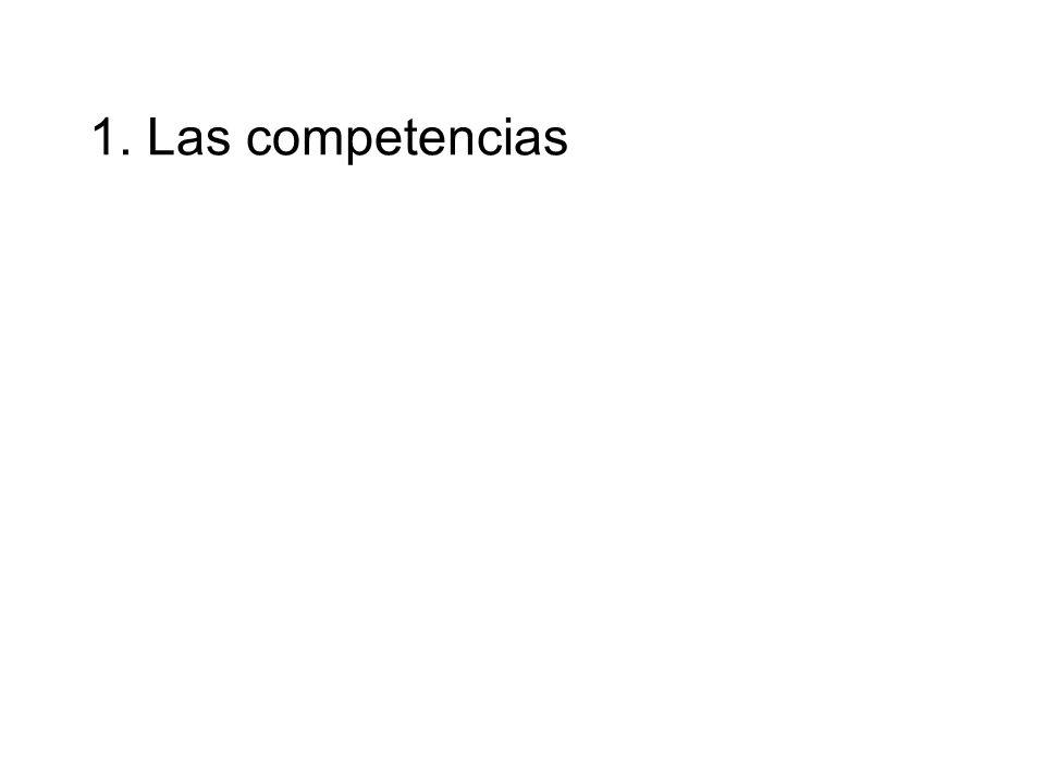 1. Las competencias