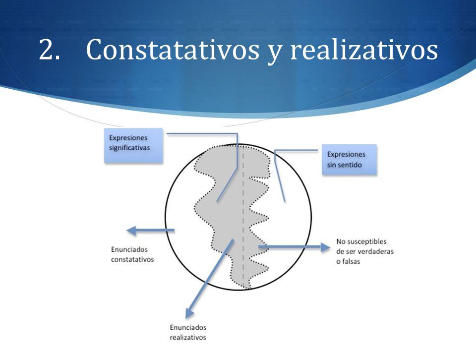 2.Constatativos y realizativos