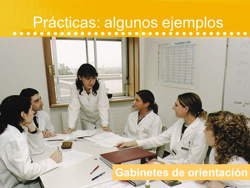 Prácticas 31 CENTROS A TU DISPOSICIÓN Colegios y guarderías Centros de Educación Especial Clínica Universitaria de Navarra Gabinetes Psicopedagógicos
