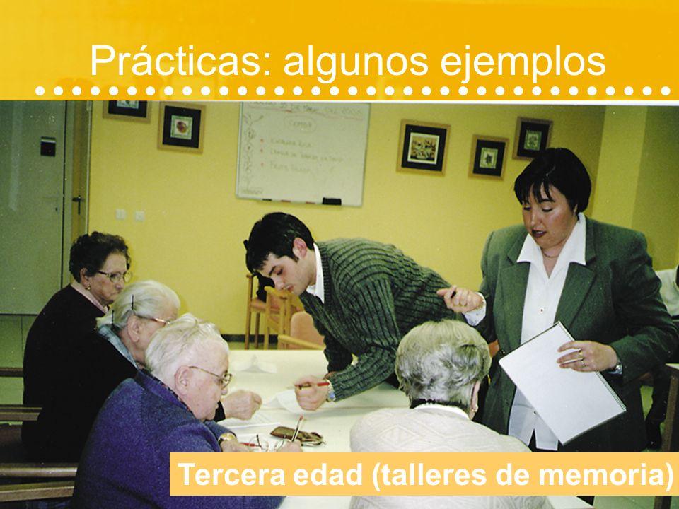 Prácticas: algunos ejemplos Gabinetes de orientación