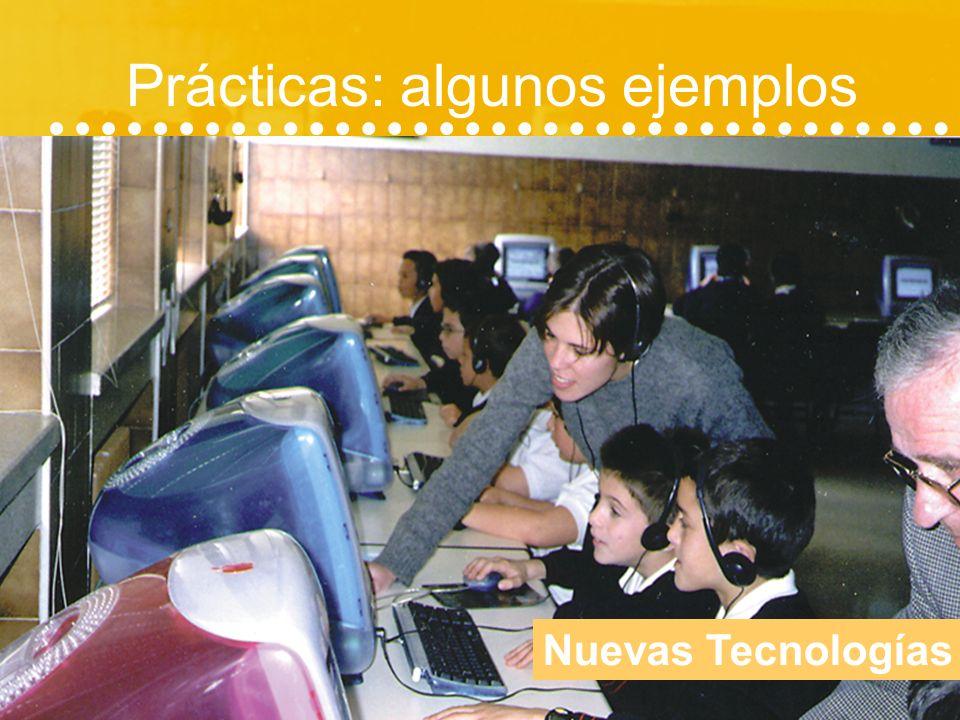 Prácticas: algunos ejemplos Tercera edad (talleres de memoria)