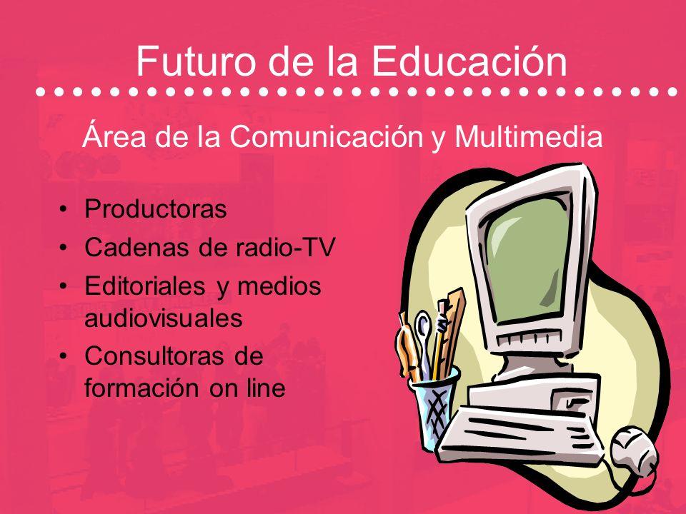 Futuro de la Educación Área de Empresa Técnico de Desarrollo Técnico de Gestión de RRHH Técnico de selección y de Formación Técnico de Mentoring (Tuto