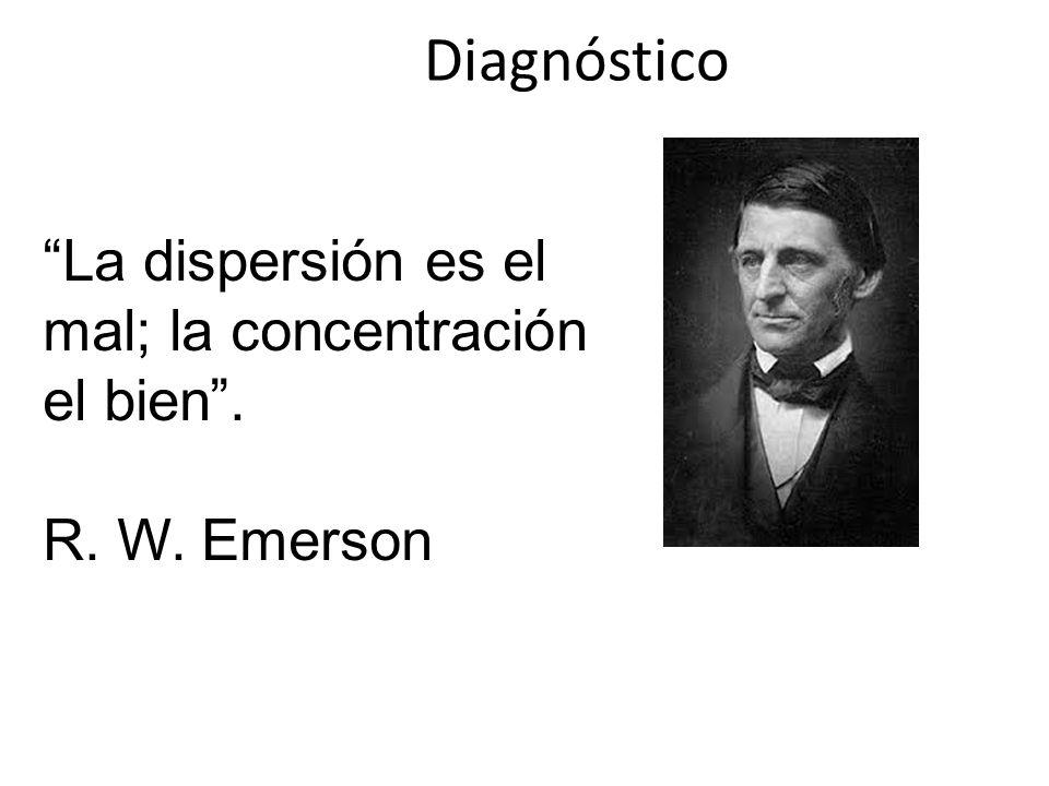 Diagnóstico La dispersión es el mal; la concentración el bien. R. W. Emerson