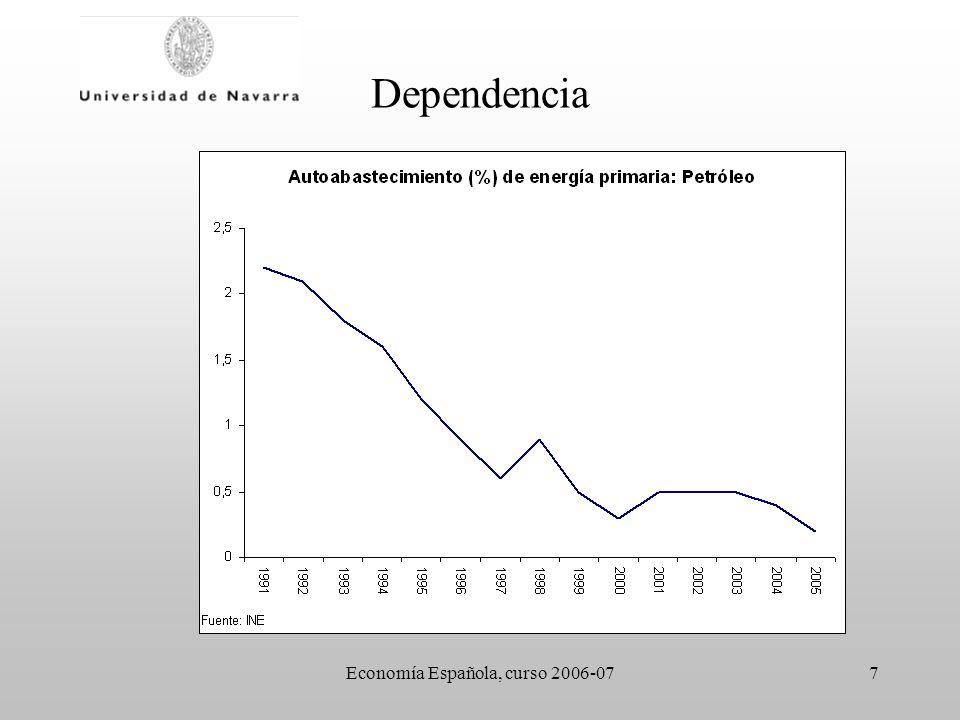 Economía Española, curso 2006-078 Dependencia