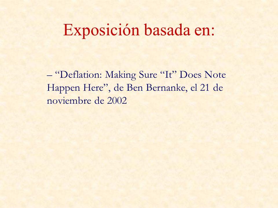 Exposición basada en: – Deflation: Making Sure It Does Note Happen Here, de Ben Bernanke, el 21 de noviembre de 2002