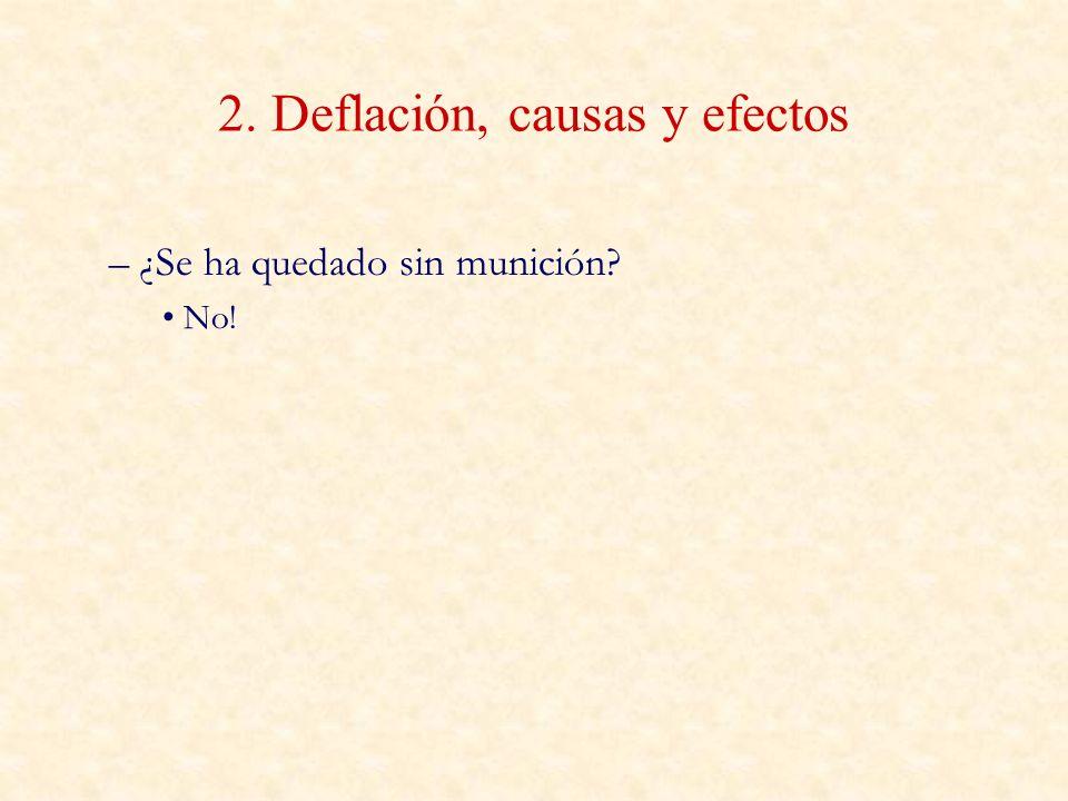 2. Deflación, causas y efectos – ¿Se ha quedado sin munición? No!