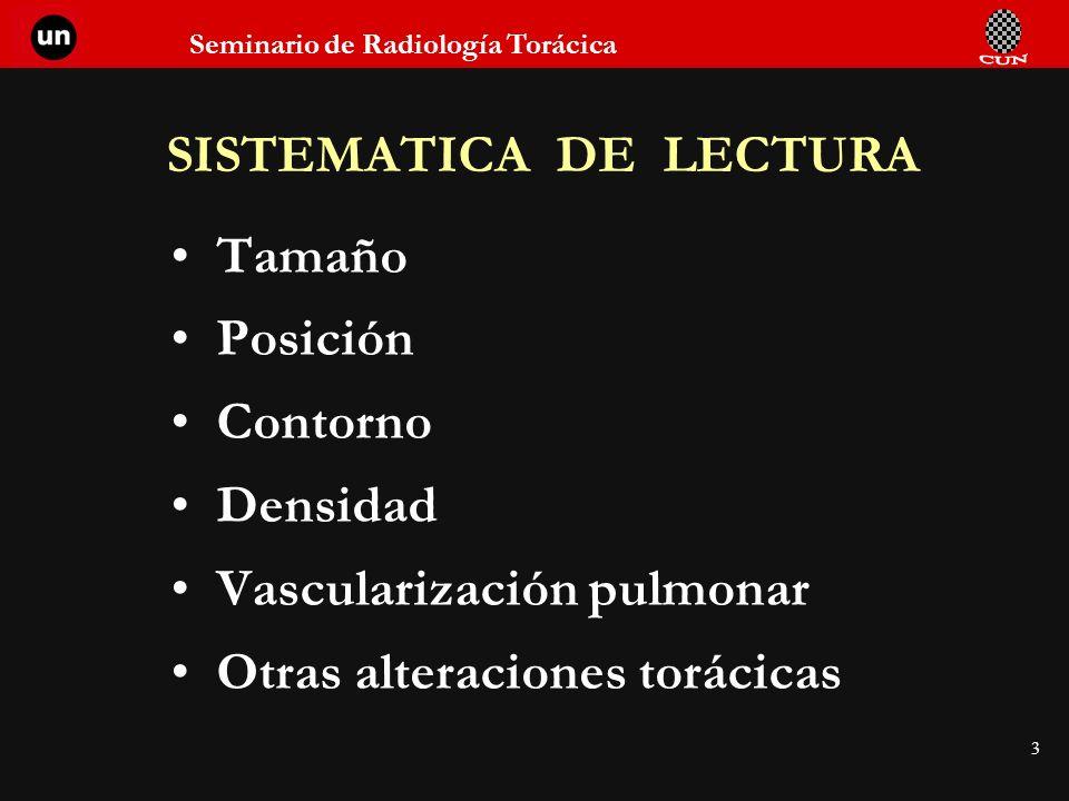 Seminario de Radiología Torácica 34 AORTA TORACICA Prominencias Anomalías de la posición Dilataciones Estenosis Calcificaciones