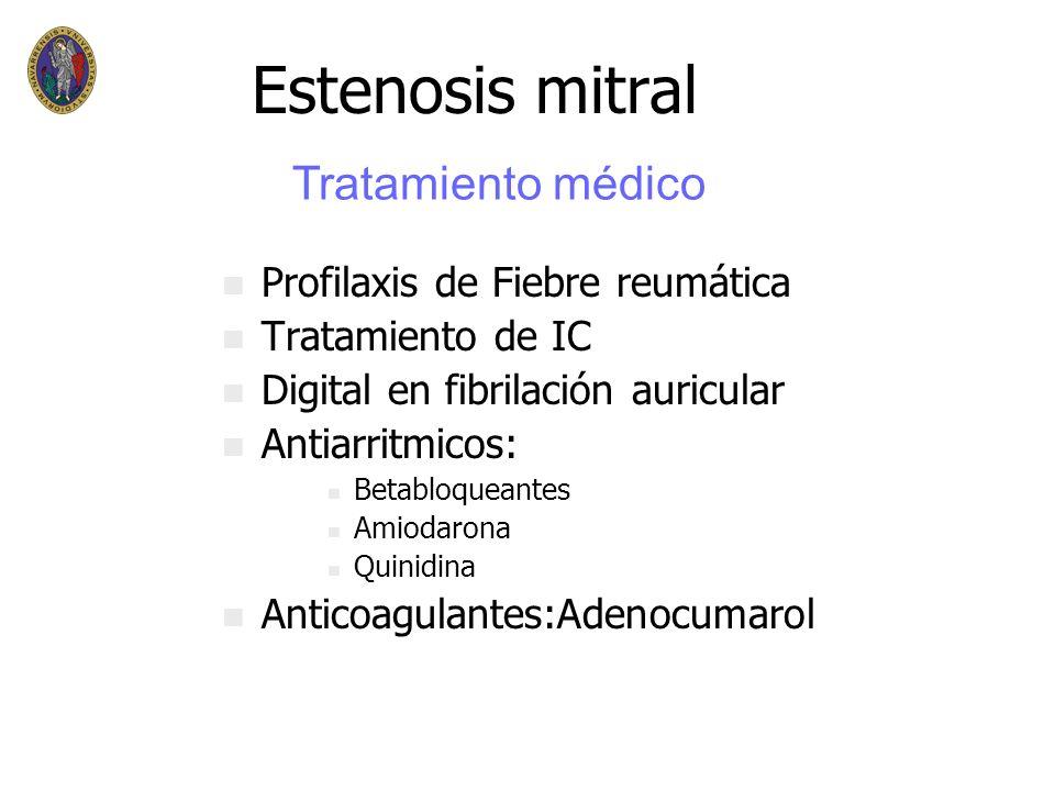 Estenosis mitral n n Latencia fiebre reumática(19a) n n Sintomas 4ª-5ª década n n Hipertensión pulmonar: – –dilatación VD – –regurgitación tricúspide=