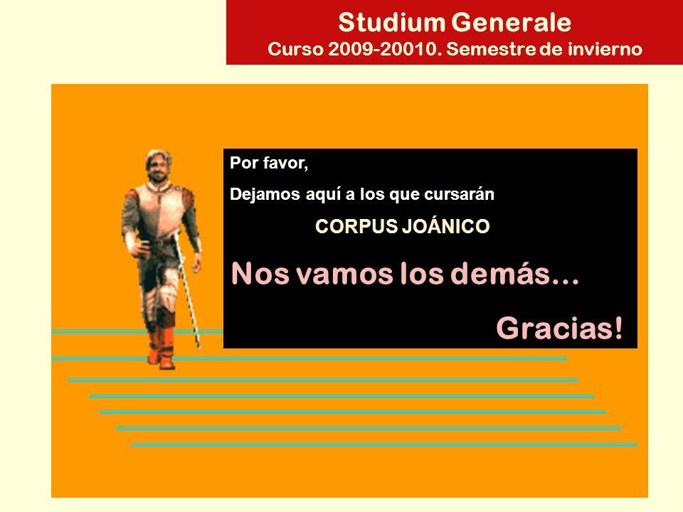 Studium Generale Curso 2009-20010.