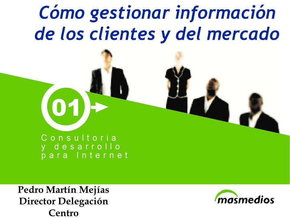 www.masmedios.com Cómo gestionar información de los clientes y del mercado Pedro Martín Mejías Director Delegación Centro pedromartin@masmedios.com